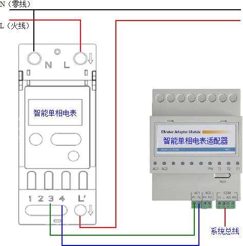 智能电表适配器安装接线