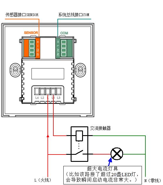 控制电动窗帘(或电动卷闸门/电动卷帘)的安装接线