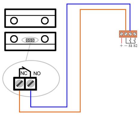 图7、门磁传感器接线示意图高清图片