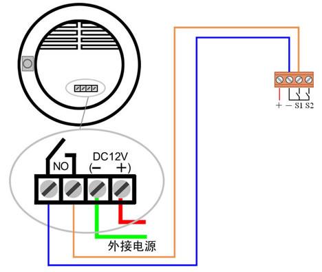 烟气传感器接线示意图